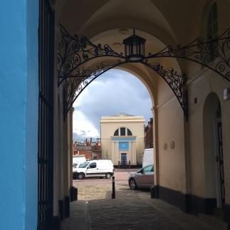 hull blue doorway