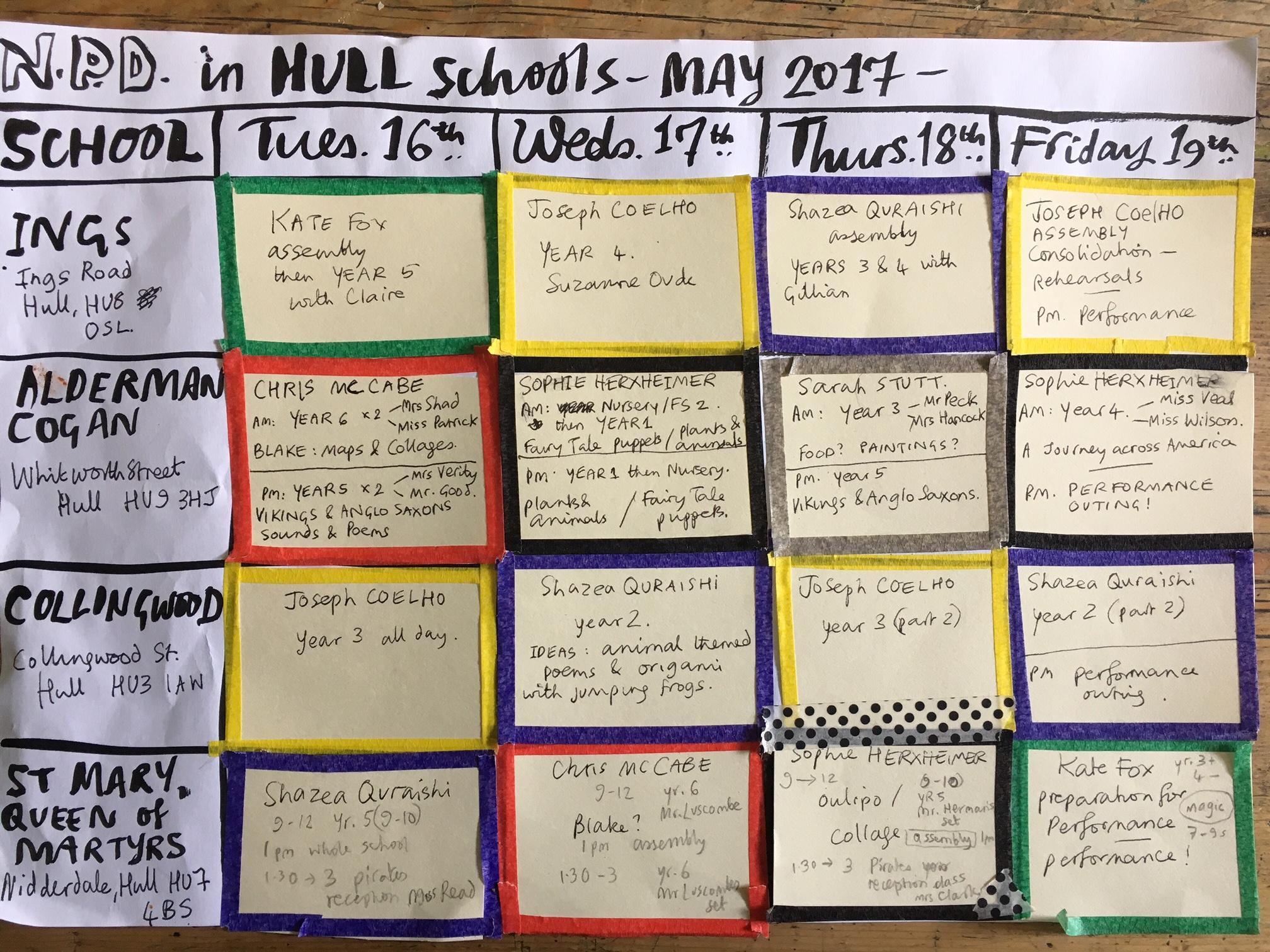 hull timetable